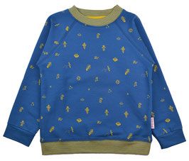 ba*ba Sweatshirt Space blau