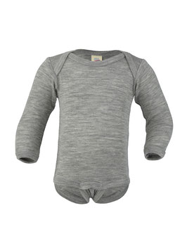 NEU Engel Body Wolle/Seide Langarm grau melange