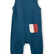 Organic by Feldmann French Terry Playsuit - Farben Spiel petrol