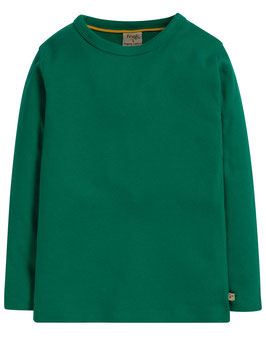 Frugi Shirt Langarm Basic Uni grün