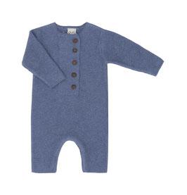 NEU Puri Organic Krausstrick-Overall china blue