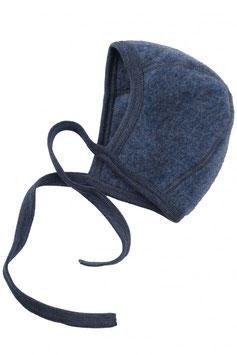 Engel Schurwoll- (Merinowolle) Babymütze blau