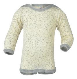 NEU Engel Body Wolle/Seide Langarm natur bedruckt