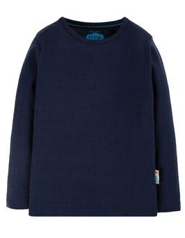 NEU Frugi Shirt Langarm Basic Uni indigo