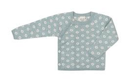 NEU Puri Organic Strick-Kimono Tupfen seagreen