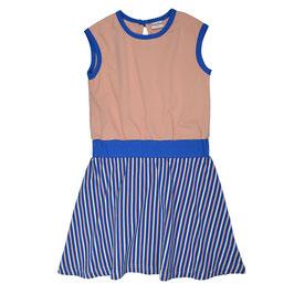 ba*ba Kidswear Shirtkleid Streifen blau/rosa