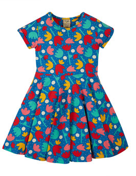 NEU Frugi Spring Skater Dress Lotus Bloom