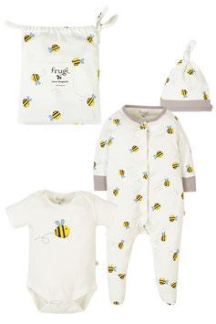 Frugi Strampler Set Buzzy Bee