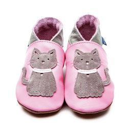 Inch Blue Krabbelschuhe Katze pink