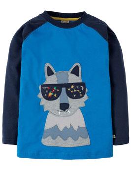 Frugi Shirt Langarm Wolf marine/blau