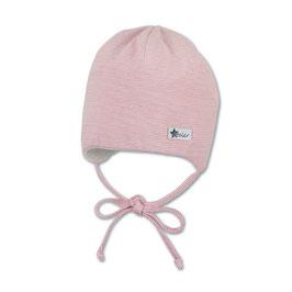 Sterntaler Babymütze gestreift rosa/weiß