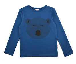 NEU ba*ba Shirt Langarm Eisbär blau