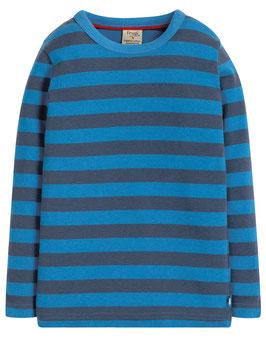 Frugi Shirt Langarm Basic gestreift blau