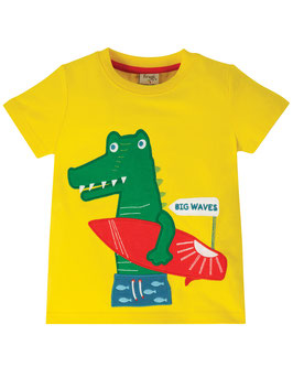 Frugi T-Shirt Krokodil sunflower