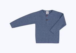 Puri Organic Pullover Henley china blau