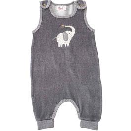 NEU People Wear Organic Frottee Strampler Elefant grau melange