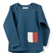 Organic by Feldmann Sweatshirt - Play of Colors petrol