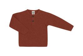 Puri Organic Pullover Henley cinnamon