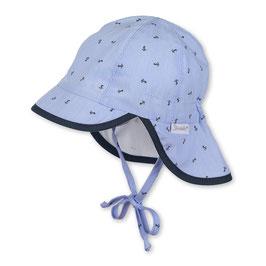 Sterntaler Schirmmütze UV 50+ Anker blau/weiß gestreift