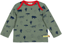 Loud + Proud Shirt Langarm Wildtiere olive