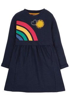 Frugi Langarmkleid Rainbow indigo