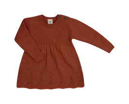 Puri Organic Strick-Kleid cinnamon
