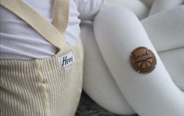 NEU Hene Design Hosenträger Strumpfhose - beige