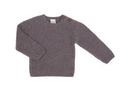 Puri Organic Strick-Pullover dunkelgrau