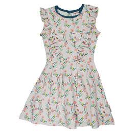 ba*ba Kidswear Sommer-Rüschenkleid Vögel