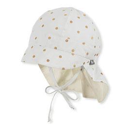 NEU Sterntaler Schirmmütze UV 50 Flapper gepunktet ecru