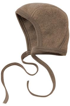 Engel Schurwoll- (Merinowolle) Babymütze walnuss