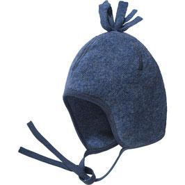 Engel Bio Fleece Bommelmütze blau