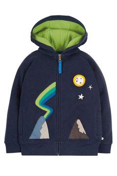 Frugi Zip Up Hoody Mountain indigo