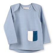 NEU Organic by Feldmann Sweatshirt - Play of Colors graublau