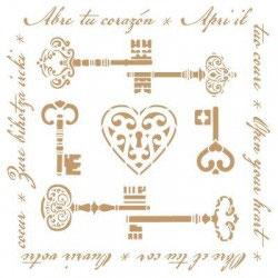 Stencil llaves