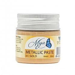 Pasta textura metalizada oro