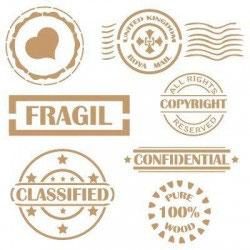 Stencil sellos vintage