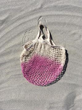 Netzbeutel mit kurzem Henkel in pink