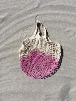 Netzbeutel mit kurzem Henkel pink