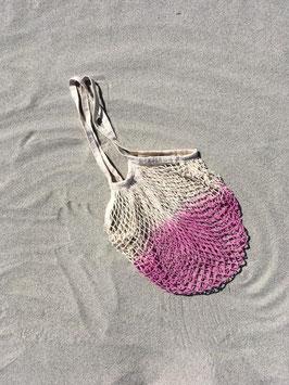 Netzbeutel mit langem Henkel in pink