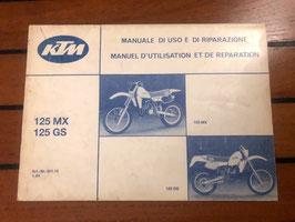 Manuel d'utilisation et de reparatation KTM usine