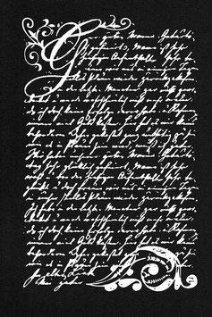 """Schablone """"Poesie"""""""
