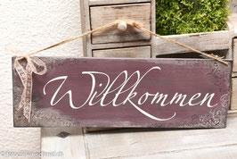 """Schablone """"Willkommen 4"""""""