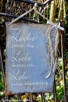 "Schablone ""Lache Liebe Lebe"""