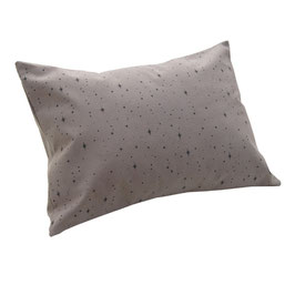 HOUSSE DE COUSSIN 30 x 40 cm étoiles noires