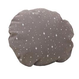 HOUSSE DE COUSSIN Ø 30 cm étoiles blanches