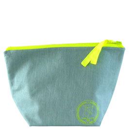 TROUSSE DE TOILETTE lin vert d'eau