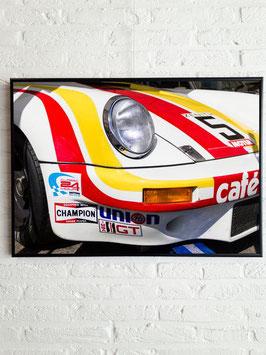 Poster: Porsche Francorchamps  (white) 50cm x 70cm