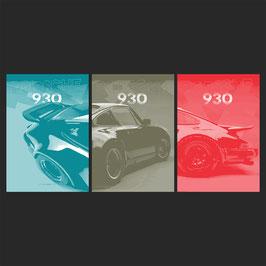 Poster Porsche 930 Turbo