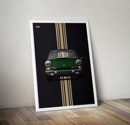 "Poster: Porsche 911 early 911 ""irish green"""